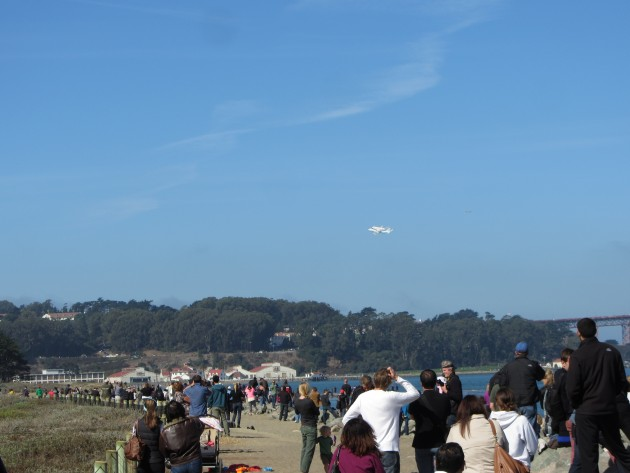 Shuttle Endeavor over Crissy Field