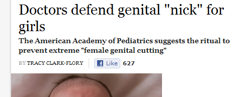 Doctors defend genital nick for girls