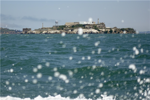 Alcatraz through Spray