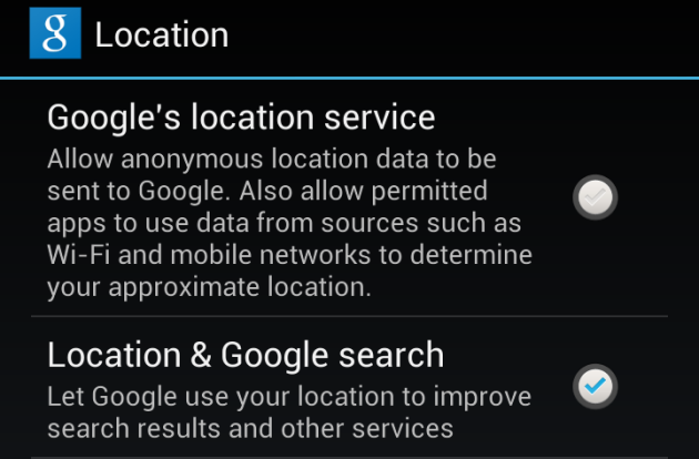 Android Location Options