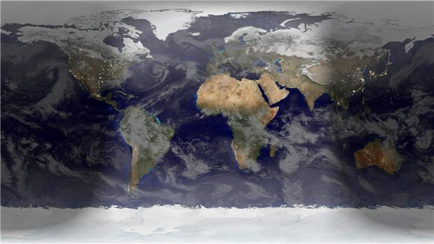Animation of a year of Global Cloud Cover