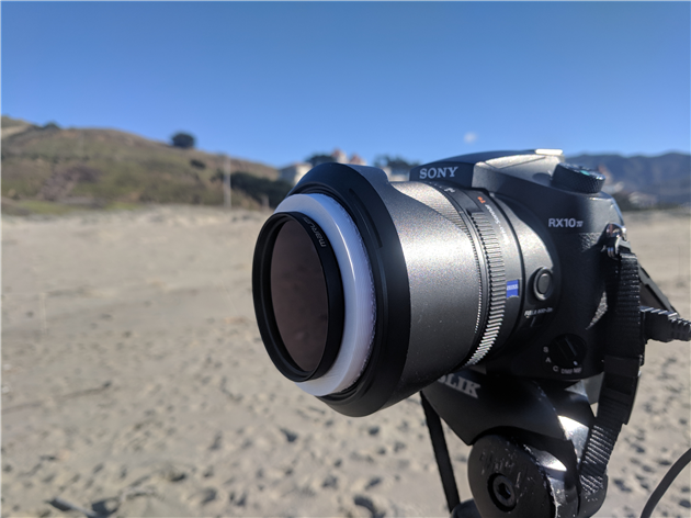 3D printed 72-58mm adapter in action on Sony RX10 IV