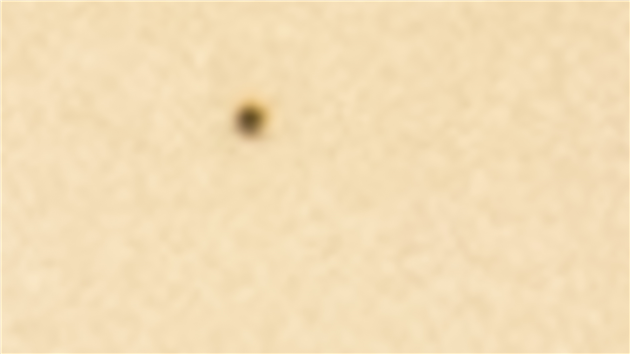 Detail from Transit of Mercury November 11 2019