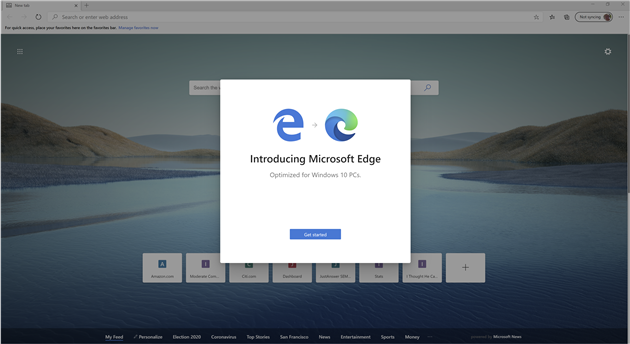 Do you want me to use Edge, Microsoft?