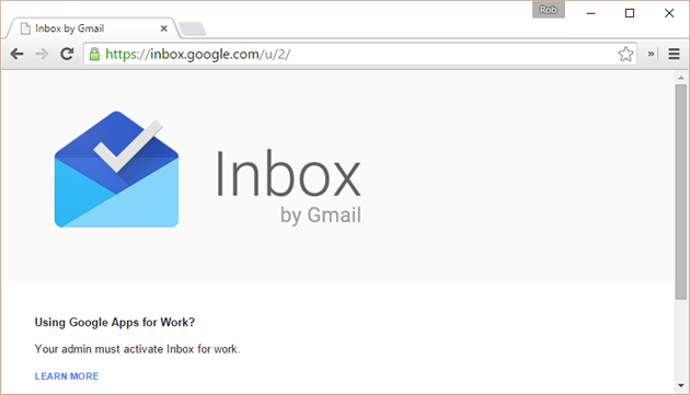 Google Inbox Account Switching