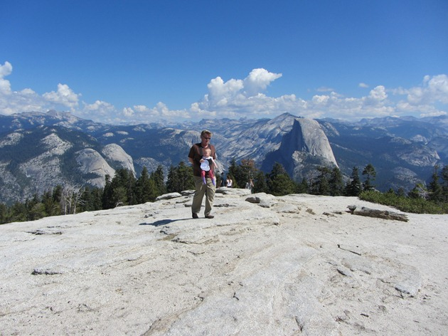 Rob & Kate approaching the top of Sentinel Dome in Yosemite National Park