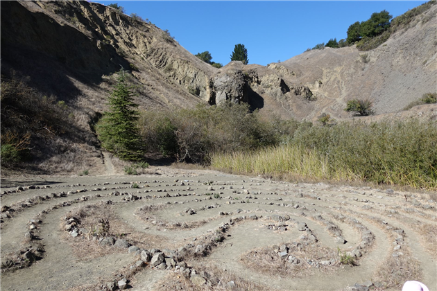 Labyrinth in quarry at  Sibley Volcanic Regional Preserve