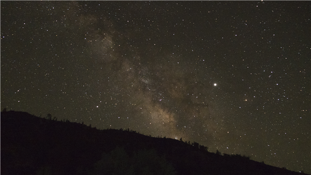 Milky Way and Jupiter over the Pinnacles National Park Campground