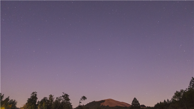 Night sky over Sugarloaf Ridge State Park