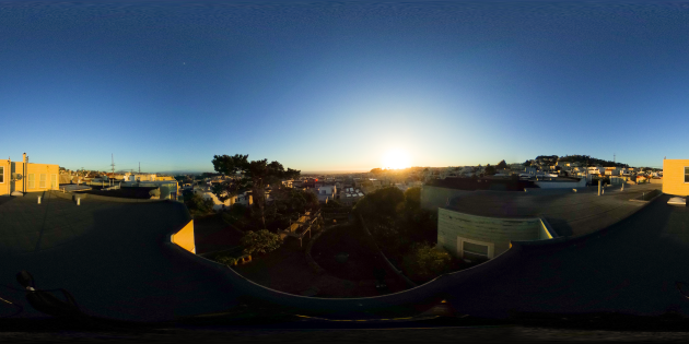 Spherical sunset timelapse 360 degree video