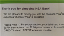 Thank you for choosing HSA Bank!