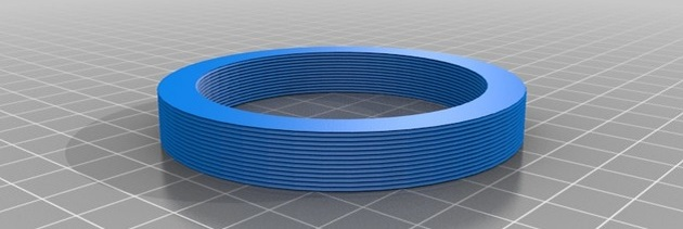 Thingiverse render of 72-58mm adapter