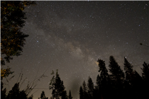 Timelapse of stars over Lake Tahoe, California