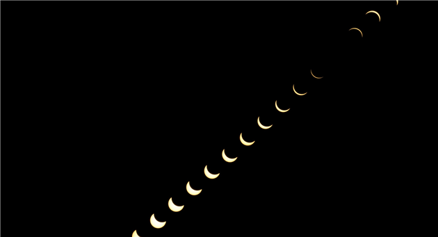 Total solar eclipse composite shot from Madras, Oregon for the 2017 eclipse.