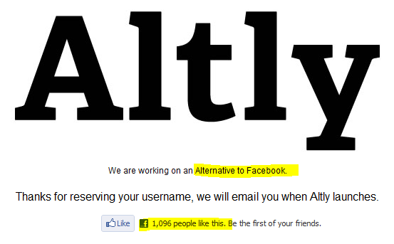 Altly - We are working on an Alternative to Facebook