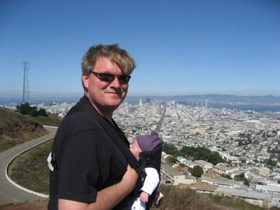 Rob and Kate at the top of Twin Peaks in San Francisco