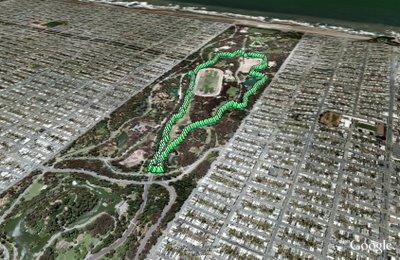Golden Gate Park loop in Google Earth