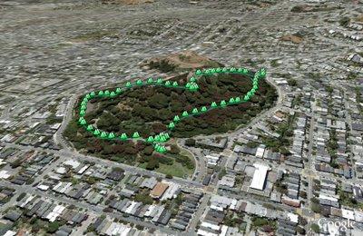 Buena Vista Park in Google Earth