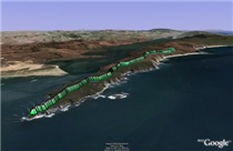 Tomales Point in Google Earth