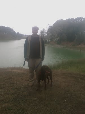 Rob and Rudy at Lake Merced