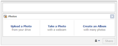 Facebook MMS Upload Step 1