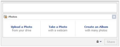 Facebook MMS Upload Step 1