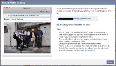Facebook MMS Upload Step 3