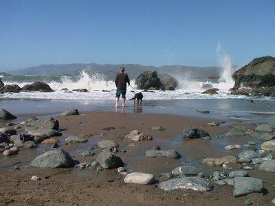 Rob & Rudy at Mile Rock Beach